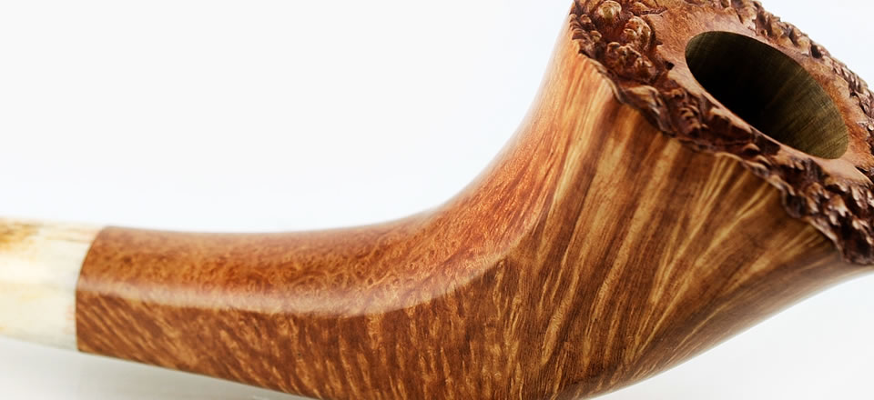 Italian Handmade Smoking Pipe Gold Collection